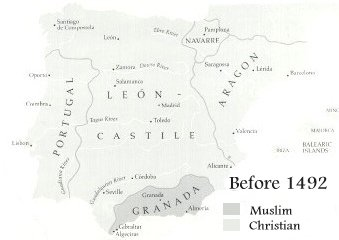 15th Century map of Christian Spain